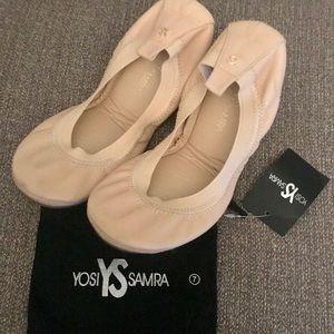 Yosi Samra soft nude leather flats
